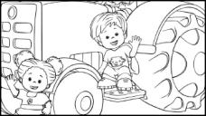 Colour the Little People's Tractor
