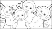 Colour Teletubbies' Big Hug